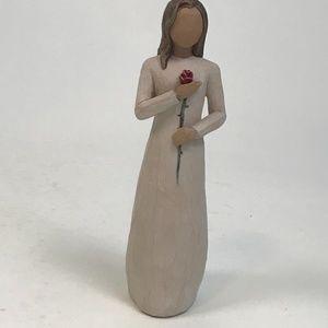 Willow Tree - Love Figurine- woman holding flower